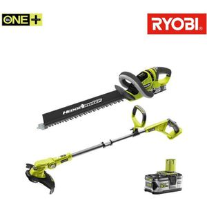 PACK DE MACHINES OUTIL Pack RYOBI taille-haies 18V RHT185R25F - coupe bor