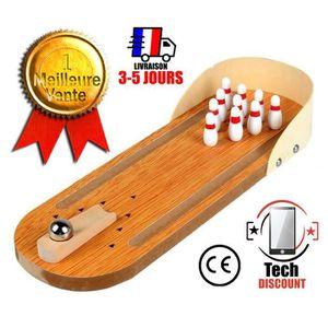 JEU DE QUILLE TECH DISCOUNT® - Mini jouet Bowling bois 30cm mais