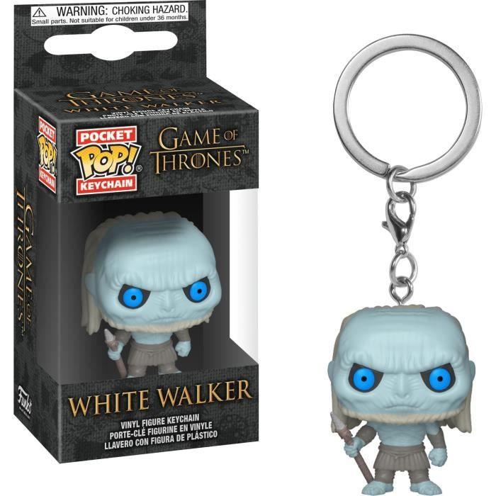 Porte-clés Funko Pocket Pop! Game Of Thrones S10: White Walker (Marcheur Blanc)