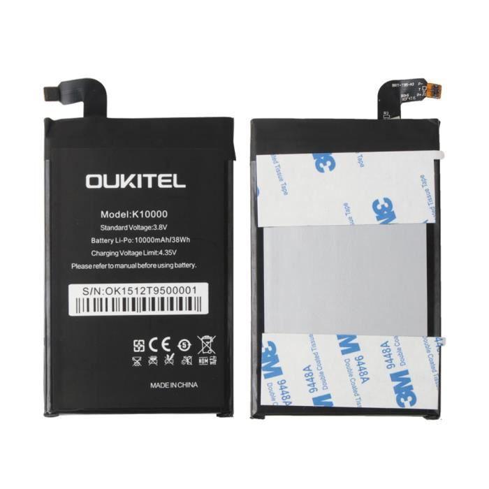 originel batterie pour oukitel k10000 10000mah bateria battery replacement achat batterie. Black Bedroom Furniture Sets. Home Design Ideas
