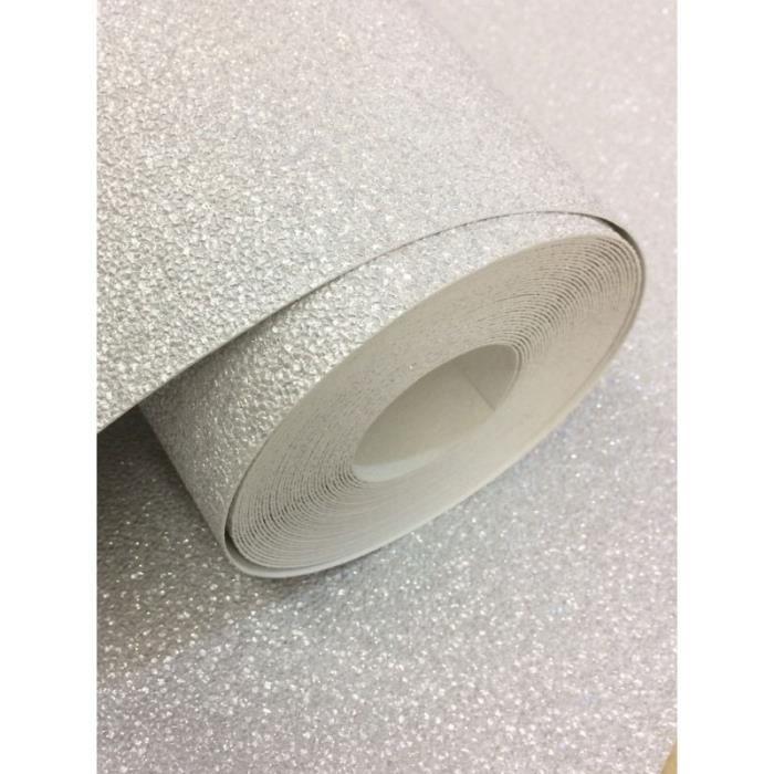 Papier Peint Carat Effet Paillettes Gris Achat Vente Papier