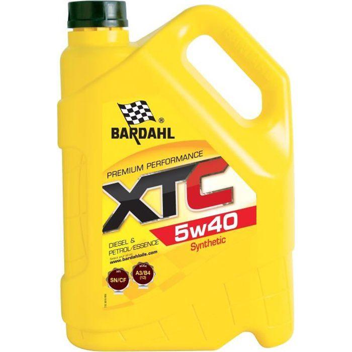 HUILE MOTEUR BARDAHL Huile moteur XTC 5W40 - Bidon de 5 L
