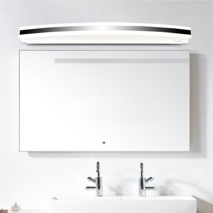Finether 12W 60PCS 2835SMD Lampe pour Salle de Bain Miroir Blanc