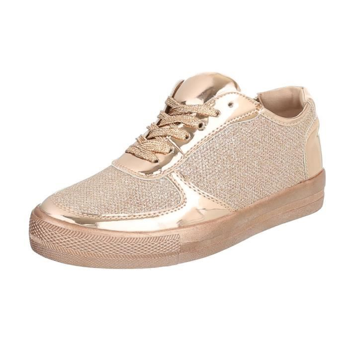 Chaussures femme chaussures sportlaceter Sneakers rose or 41