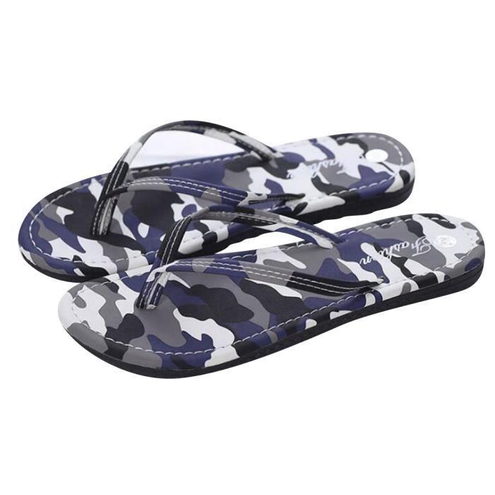 pantoufle été femme Confort classique chaussures pour plage homme camouflage Haut qualité Breathable flip flops 3rm49Na