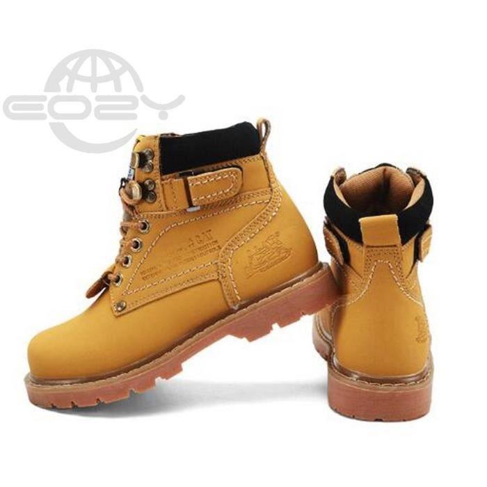 EOZY Mode Boots Bottine Homme Outdoor Chaud Hiver Jaune UtCHVZ7DrJ