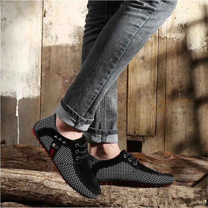 Antidérapant Taille Durable Grande Homme Ete Hommes Moccasins Confortable Mode 2017 Nouvelle Qualité Supérieure Moccasin Chaussures 6qCZA