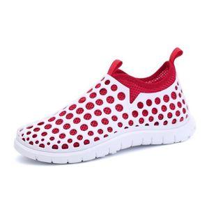 chaussures multisport Mixte Lovers mocassins sport loisir étudiants en cuir d'été rouge taille4.5 v6OnT6b5q
