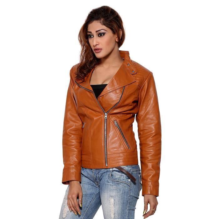 Femmes Tous Asymétrique Zo0a3 Veste Cuir Taille Round Et Shearling 34 Moto rrwxAd4q