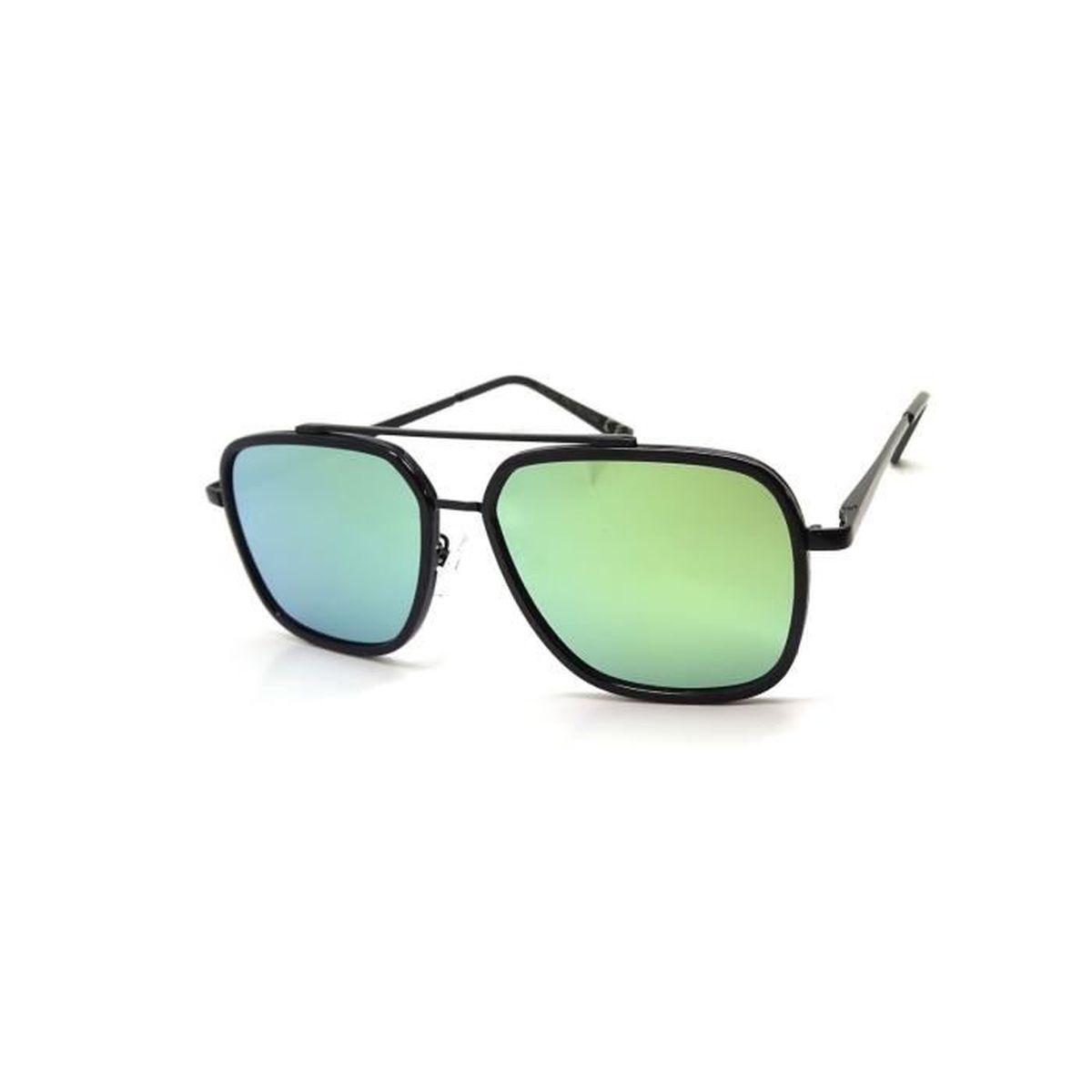 Haute Qualité Lunettes de pilote Lunettes de soleil années 70homme & Femme Lunettes de soleil Lunettes aviateur Effet miroir - Jaune - 445yXK