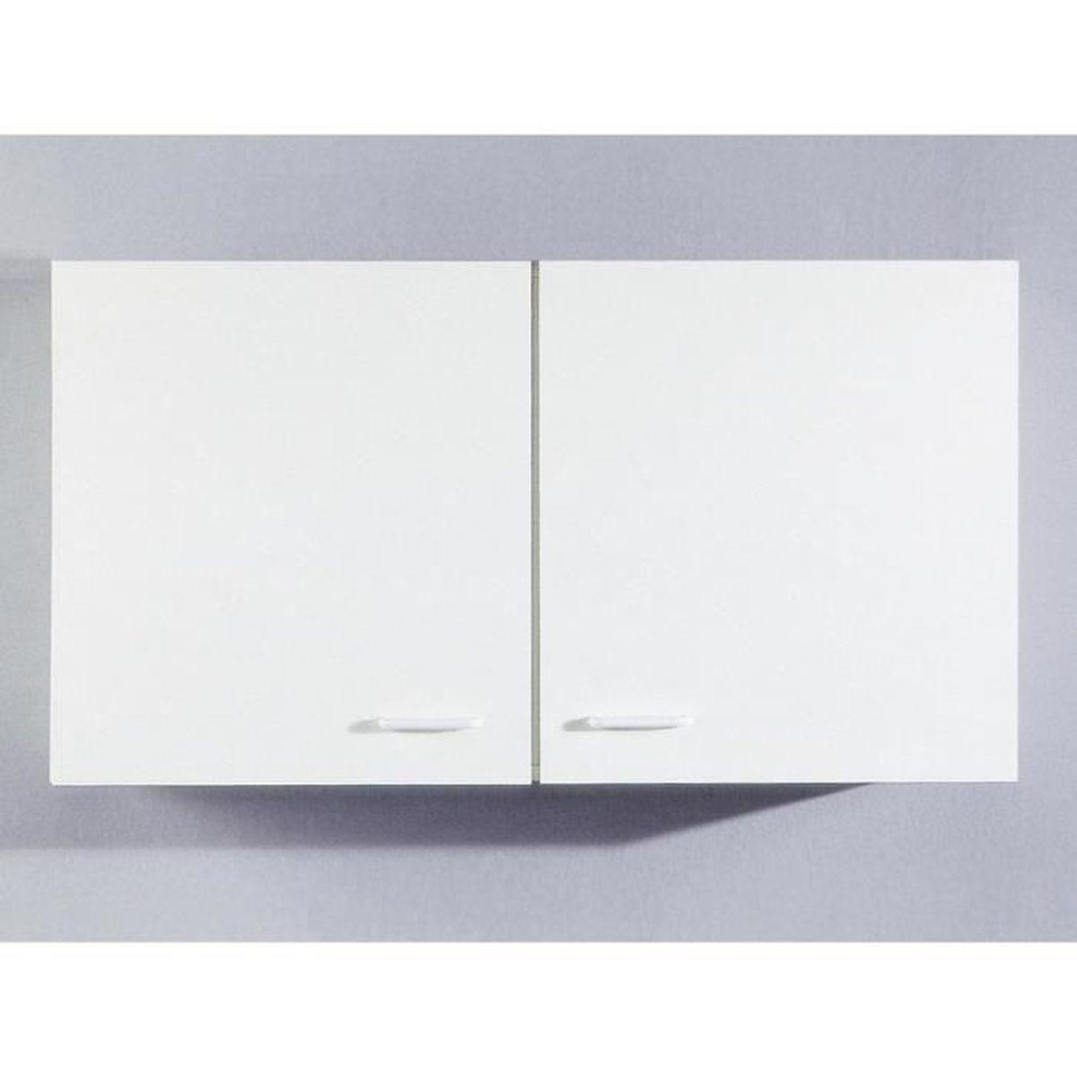 Meuble haut de cuisine Tupi 100 cm Blanc - Achat / Vente éléments ...