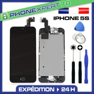 ECRAN DE TÉLÉPHONE Écran complet iPhone 5S noir assemblé