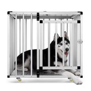 CAGE Cage pour chien 79*65*74cm cage pliable avec roues