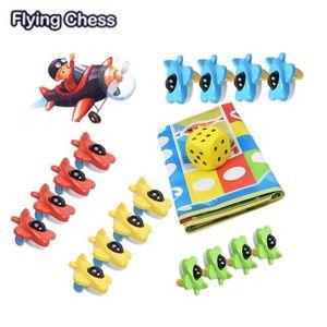 JEU SOCIÉTÉ - PLATEAU 3D Petite avion volant d'échecs et Mats Family Gam