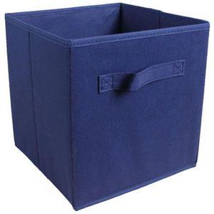 BOITE DE RANGEMENT Tiroir de rangement - Tissu - 27x27x28 cm - Bleu