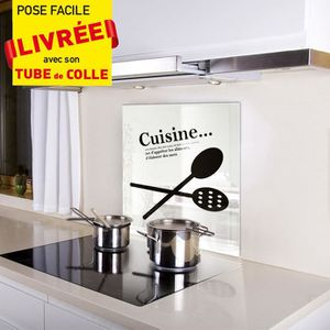 Ecran anti projection en verre achat vente ecran anti for Anti projection cuisine