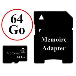 ACCESSOIRES SMARTPHONE Carte Mémoire au format Micro-SD 64 Go classe 10 +