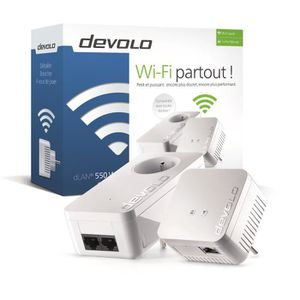 COURANT PORTEUR - CPL DEVOLO CPL Wi-Fi 500 Mbit/s + 1 CPL Filaire 500 Mb