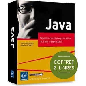 LIVRE PROGRAMMATION Livre - Java ; coffret de 2 livres ; algorithmique
