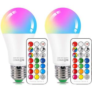 AMPOULE INTELLIGENTE Lot de 2 Ampoules LED RGB Couleur Changement Dimma