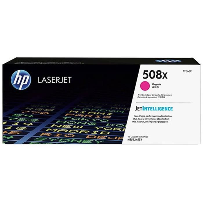 HP Cartouche toner 508X - Magenta - 9.500 pages