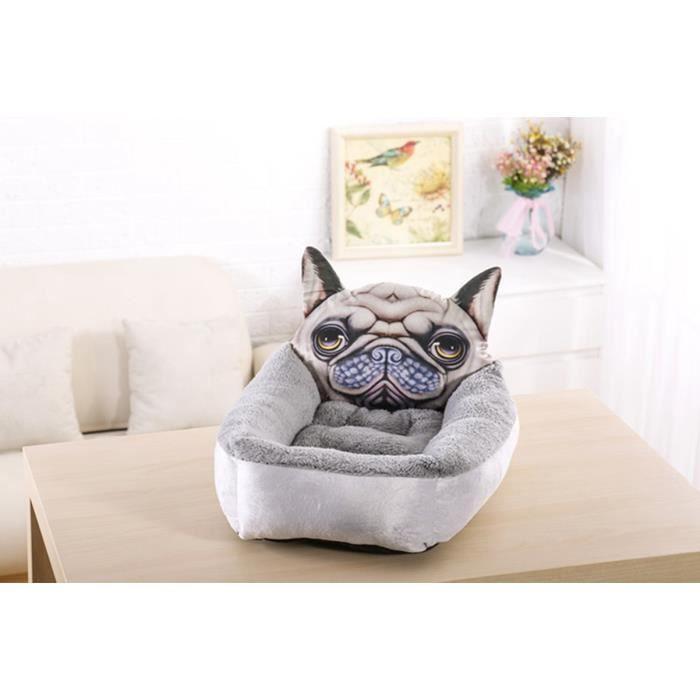 50 * 60cm Maison D'animal De Compagnie D'hiver Style Dessin Animé Kennel Mat Chien Chat Chaud (gris)