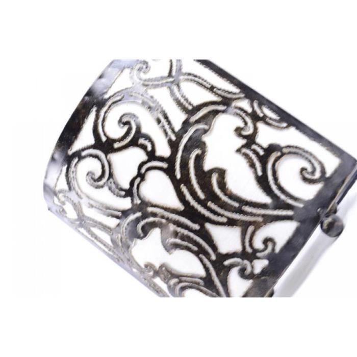 De Style Blanc Chevet Oriental Lampe Fer Tissu Marocain Forgé CBexdo