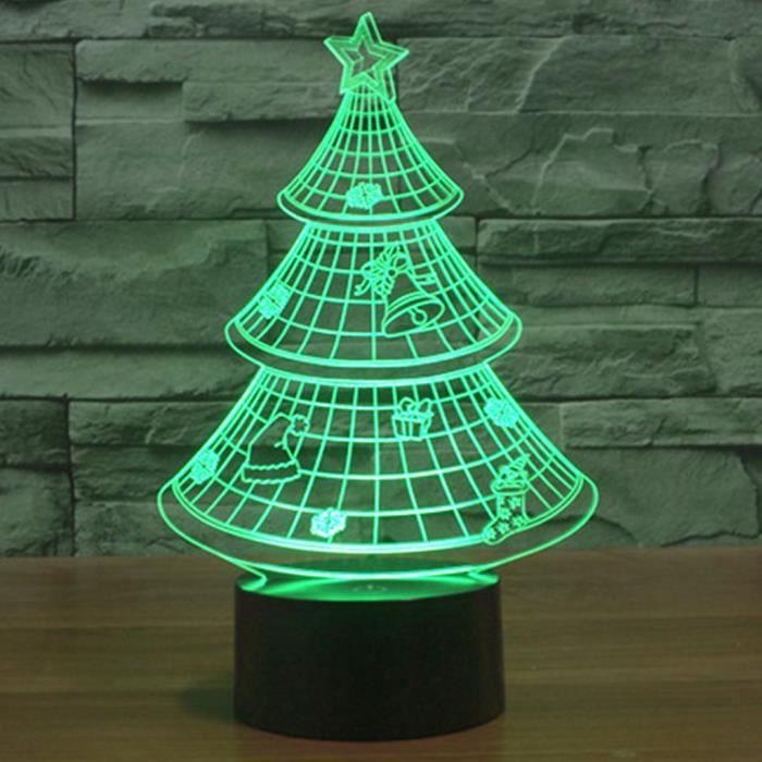 BLEOSAN Lampe D LED Sapin Noël Lampe A Poser Sur Table D LED - Canapé convertible scandinave pour noël decoration de chambre de nuit