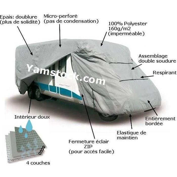 housse de protection pour camping car 7m20 a 8m achat. Black Bedroom Furniture Sets. Home Design Ideas