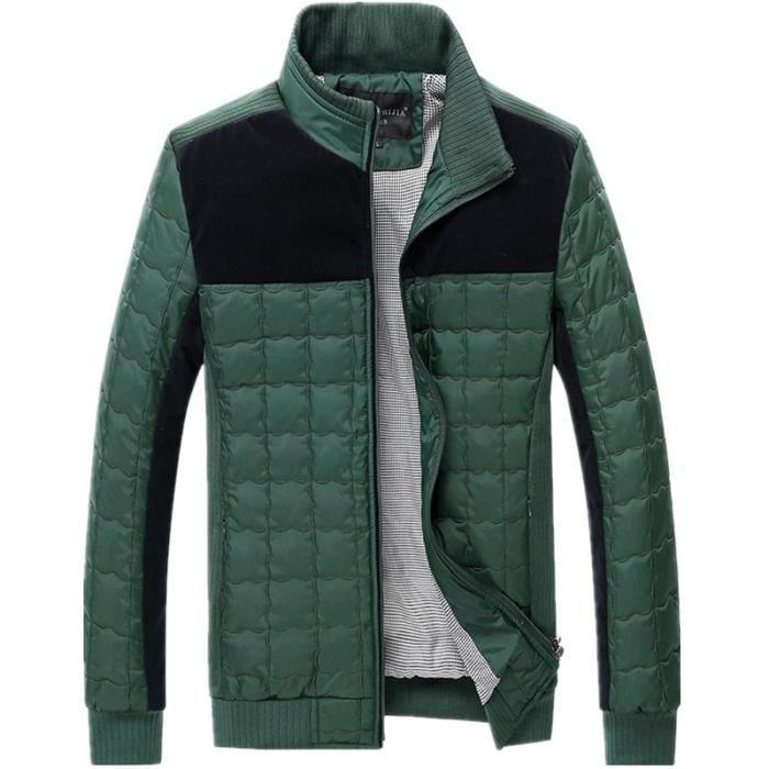 Doudoune homme de nouvelle collection d hiver 2... Vert - Achat ... 97a617efe781