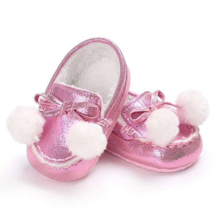 Nouveau Chaussures de bébé Tendance Loisirs Garde au chaud Fond mou Chaussures de bébé-Rose 7E2tVRoetm