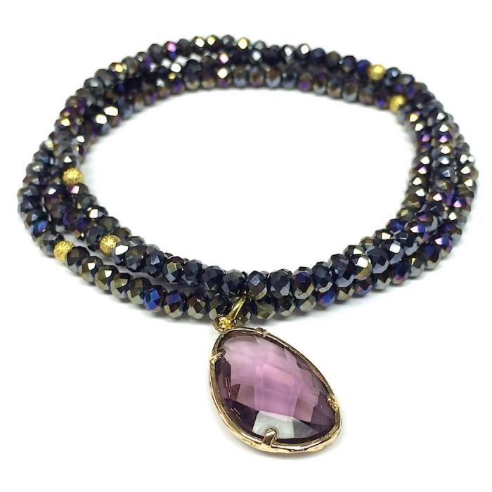 Elise M Ambrosia Stone Smokey Quartz-red Wrap Bracelet EA48J