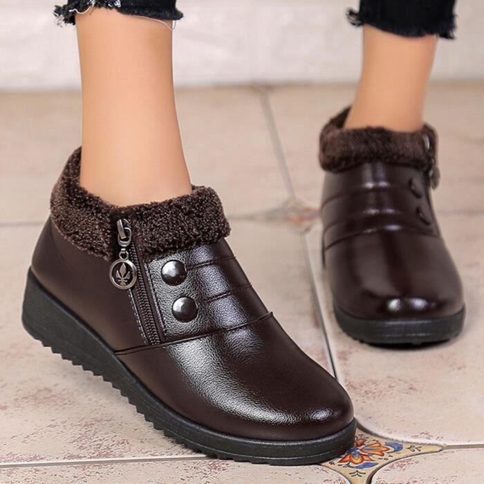 Femmes slip Plat Avec friendprice12347 Classiques Des Zipper Cuir Bottines Chaussures En Anti v6Z1Zxqn