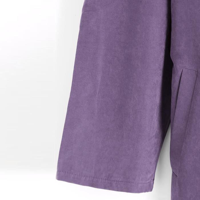 Veste Coupe Outwear Rwq7422 Femmes Solides Manteau Manches Manteaux Parka Lâche vent Longues n0vxqP0Y