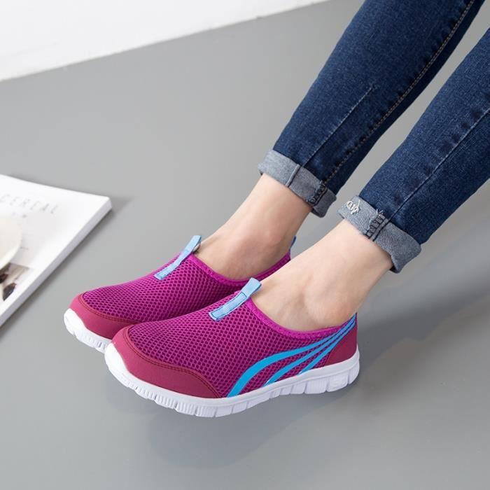 chaussures de sport respirant à lacets en plein air l'été chaussures de course de sport Chaussures Baskets marche en plein air Mesh GpKdnEwA7
