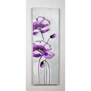 TABLEAU - TOILE Tableau déco Fleurs  86 -  Toile peinte à la main