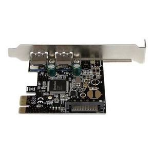 STARTECH Carte contrôleur PCI Express ? 2 ports USB 3.0 - Adaptateur PCIe 2x USB-A (F) avec alimentation SATA