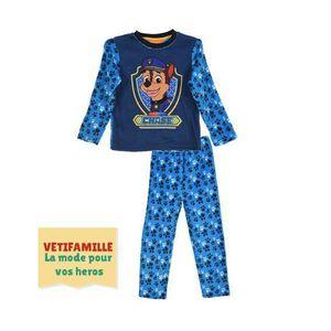 2528f93793c38 PYJAMA Pyjama velour Pat la Patrouille Chase bleu du 3 au