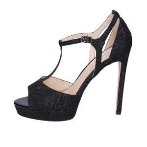 SANDALE - NU-PIEDS BIBI LOU Chaussures Femme Sandale glitter Noir BT7