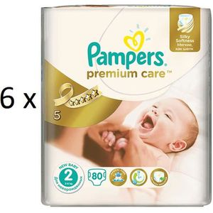 COUCHE 480 COUCHES PAMPERS PREMIUM CARE taille 2