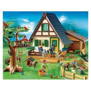 UNIVERS MINIATURE Playmobil - Vie à la ferme -Famille-Animaux-Maison