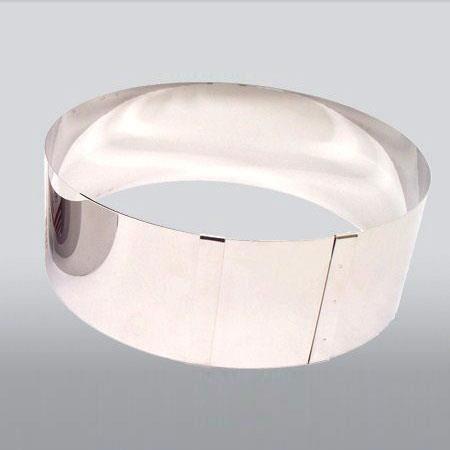 PATISSE Cercle à pâtisserie extensible - Ø 18-30 x H - 9 cm - Gris argenté