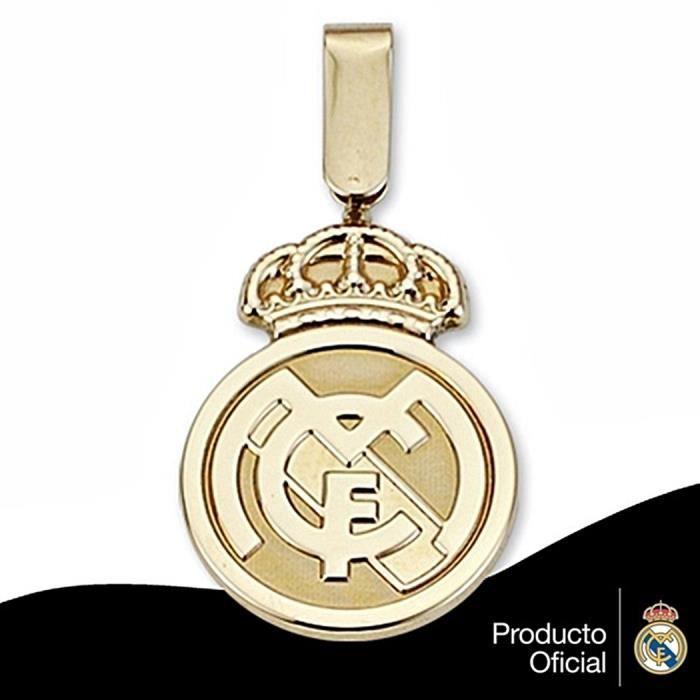 Pendentif écusson Real Madrid or massif 18k 24mm. jaune