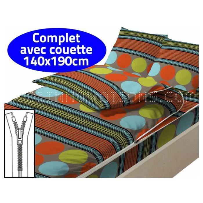 caradou couchage avec couette 2 personnes lin a achat vente housse de couette cdiscount. Black Bedroom Furniture Sets. Home Design Ideas