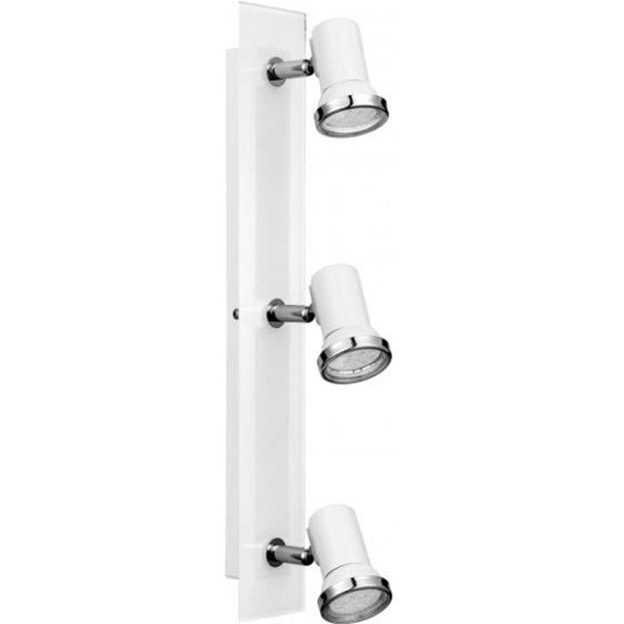 Réglette 3 spots LED orientable de salle de bain - Achat / Vente ...