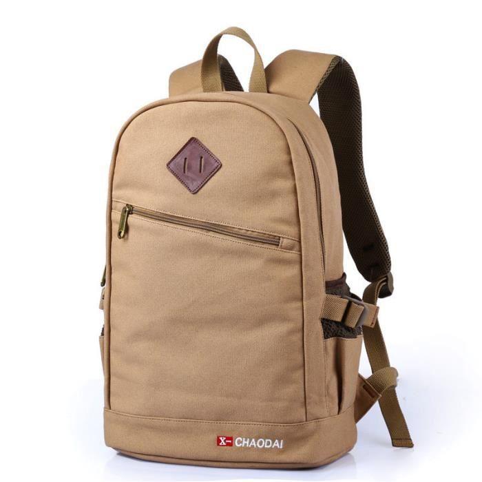 HuskSware® Voyage toile sac à dos en plein air homme femme les épaules sac école de paules sac à dos
