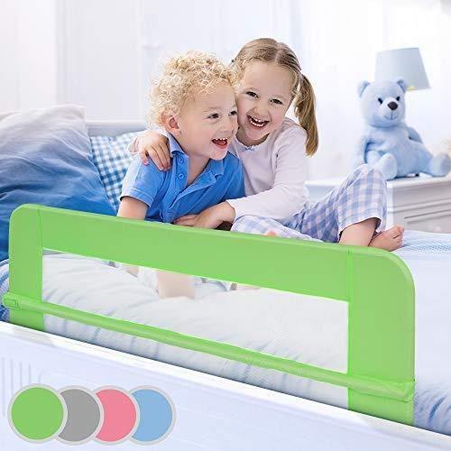 Barrière de lit pour enfant, 150 cm (coloris au choix) vert