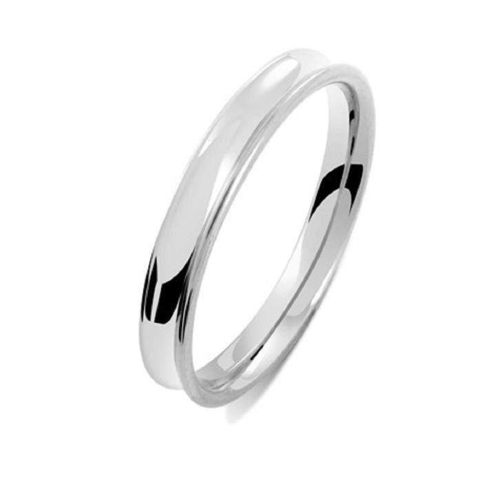 ALLIANCE OR BLANC 18 Cts 3mm