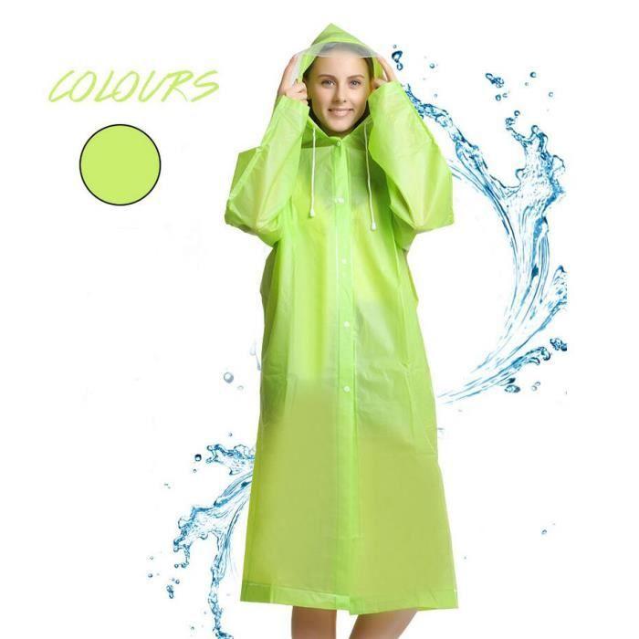 2d32da3be Raincoat Manteau De Imperméable Unisexe Couverture Pliable Portable ...
