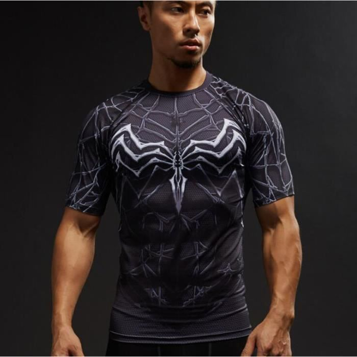 85fbd9b25c2d HTFR® Araignée fraîche Tee-shirt Noir Noir - Achat   Vente t-shirt ...